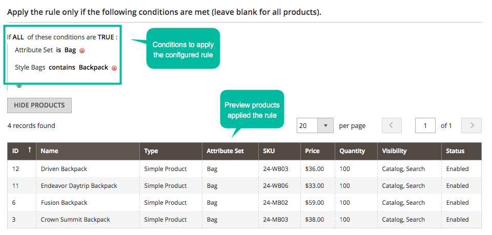 magento 2 hide price by rules