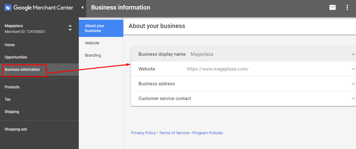 integrate google shopping