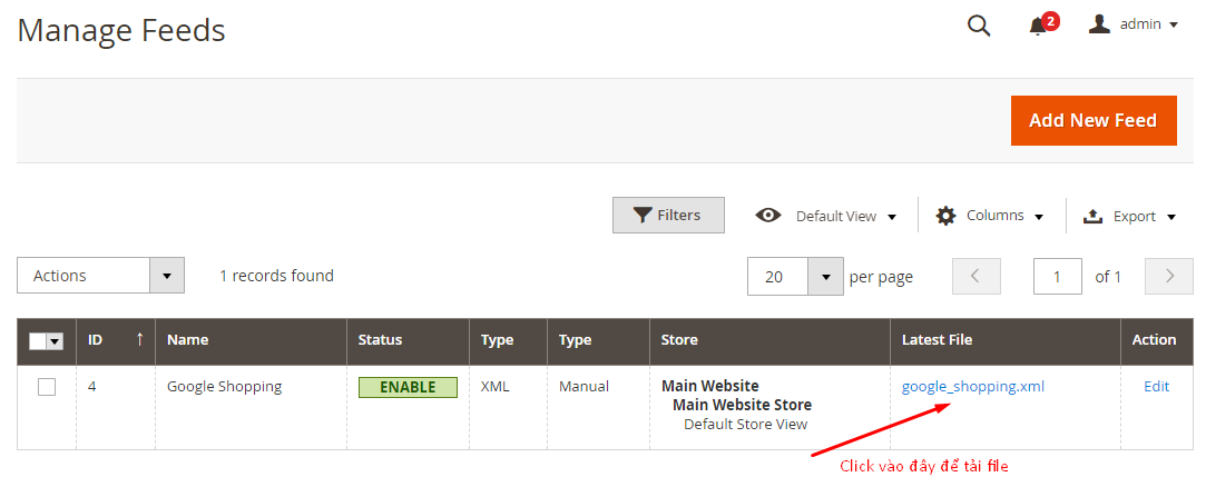 Generate to export and upload files to the server for Google shopping
