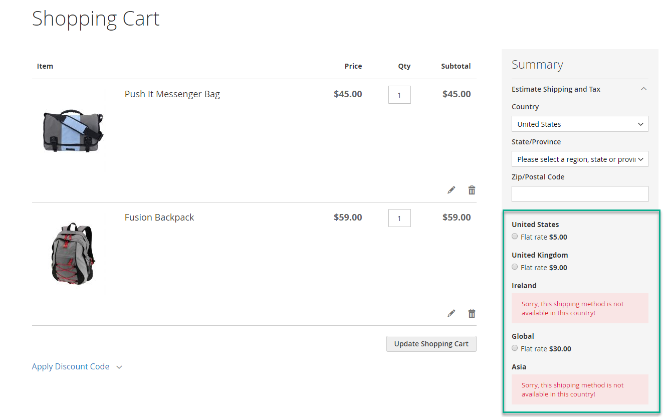 Multi-flat rates visibility for Magento 2