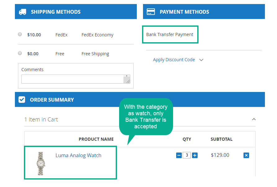 Magento 2 payment suite restrict payment methods based on shipping methods