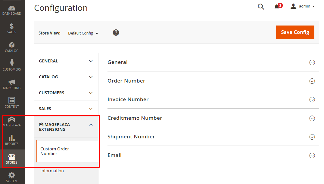 How to configure same invoice number depending on order number?