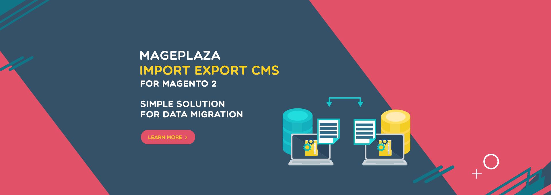 magento 2 import export cms
