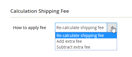 Set up the shipping change calculation