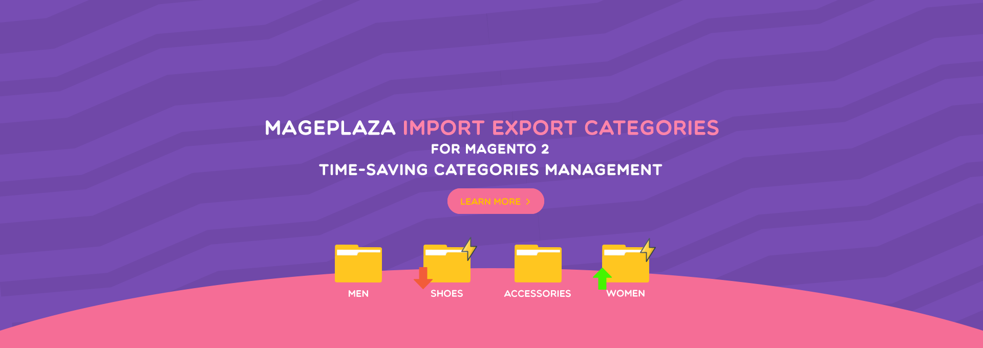 magento 2 import export categories
