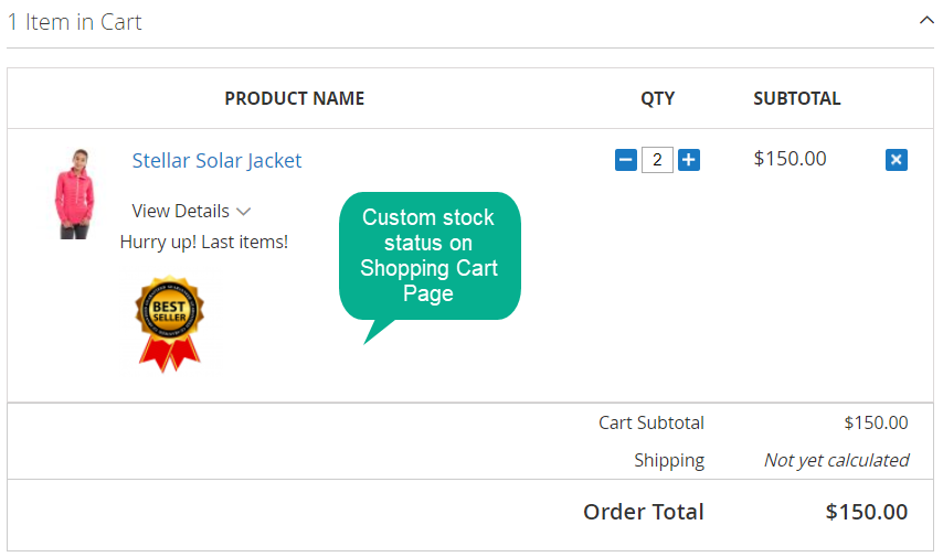 Custom Stock Status