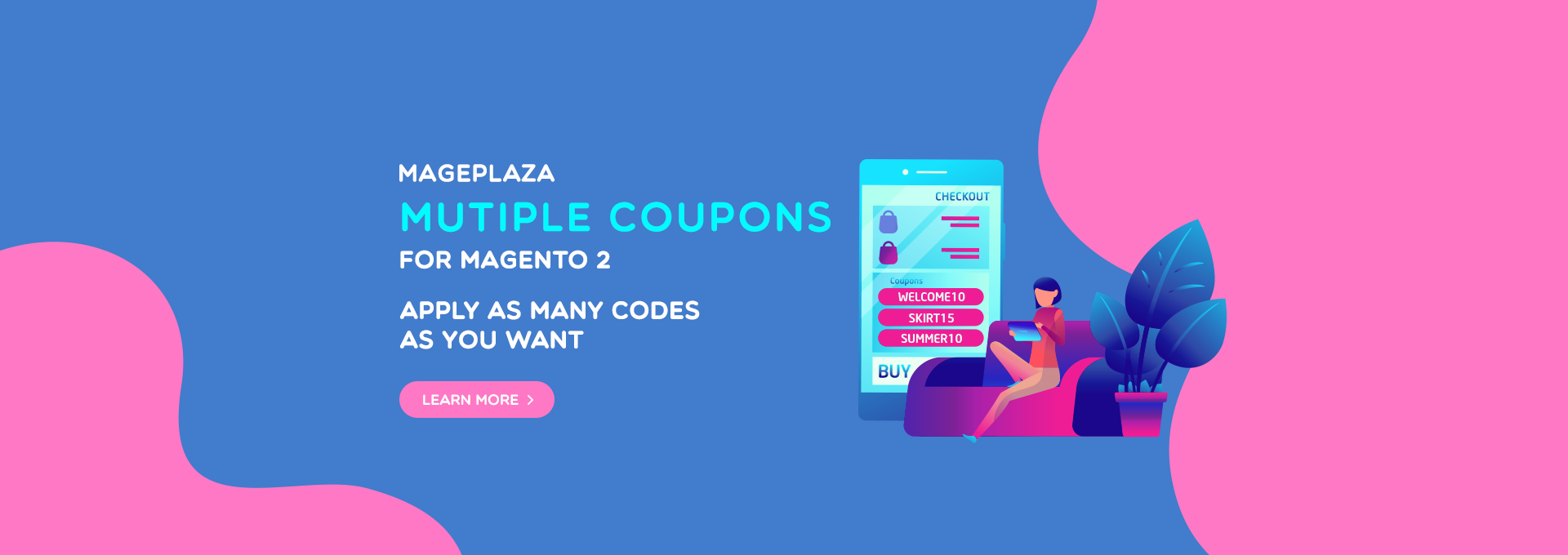 Magento 2 Multiple Coupons - Motivate customers to buy & Eliminate losing money