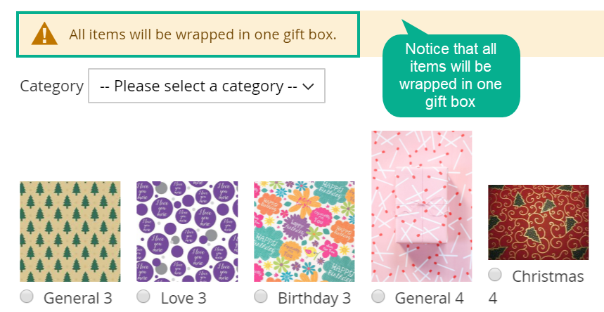 Allow Wrapping Items Together Or Separately