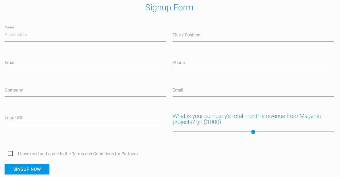 Could you show me how I can sign up for Partner Program