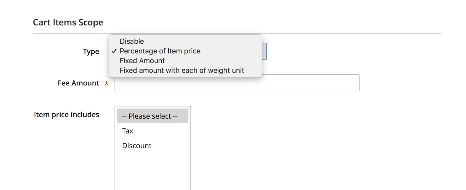 Set specific shipping rates for each group of store view