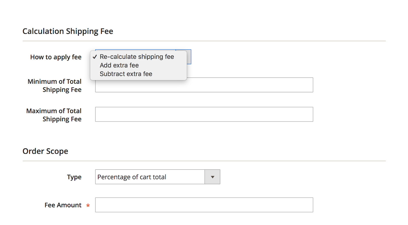 Set specific shipping rates for each group of customer/ store view