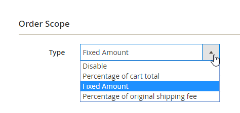 The shipping fee will be calculated for Order