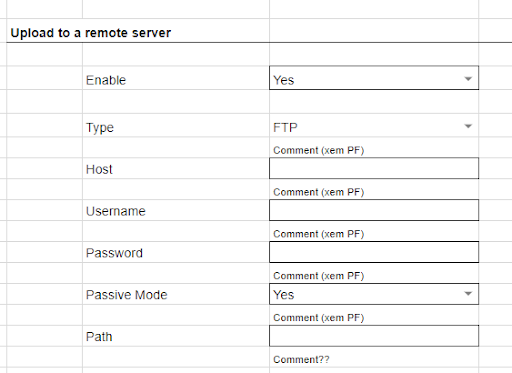 Upload files automatically to a remote server