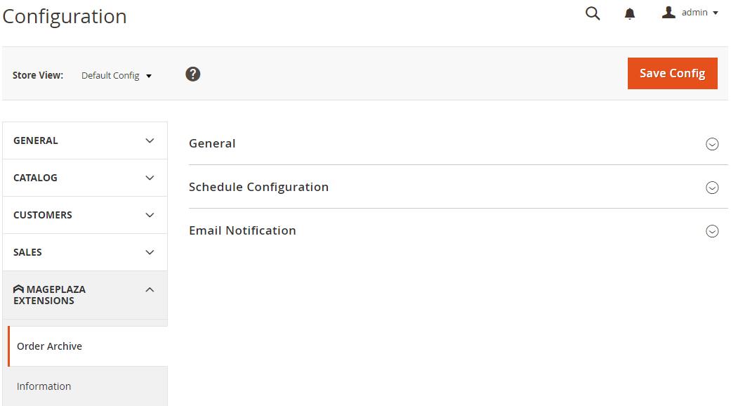 Configure Order Archive 1