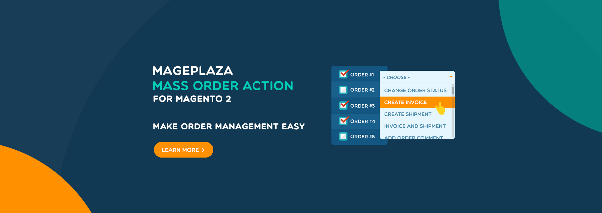 How to perform Mass Order Actions with a few clicks