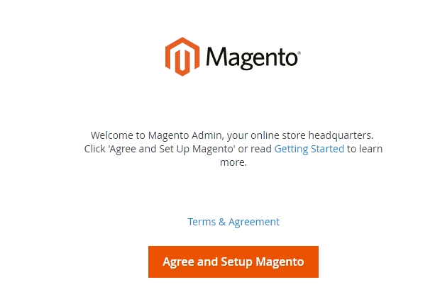 Running the Magento Setup Wizard