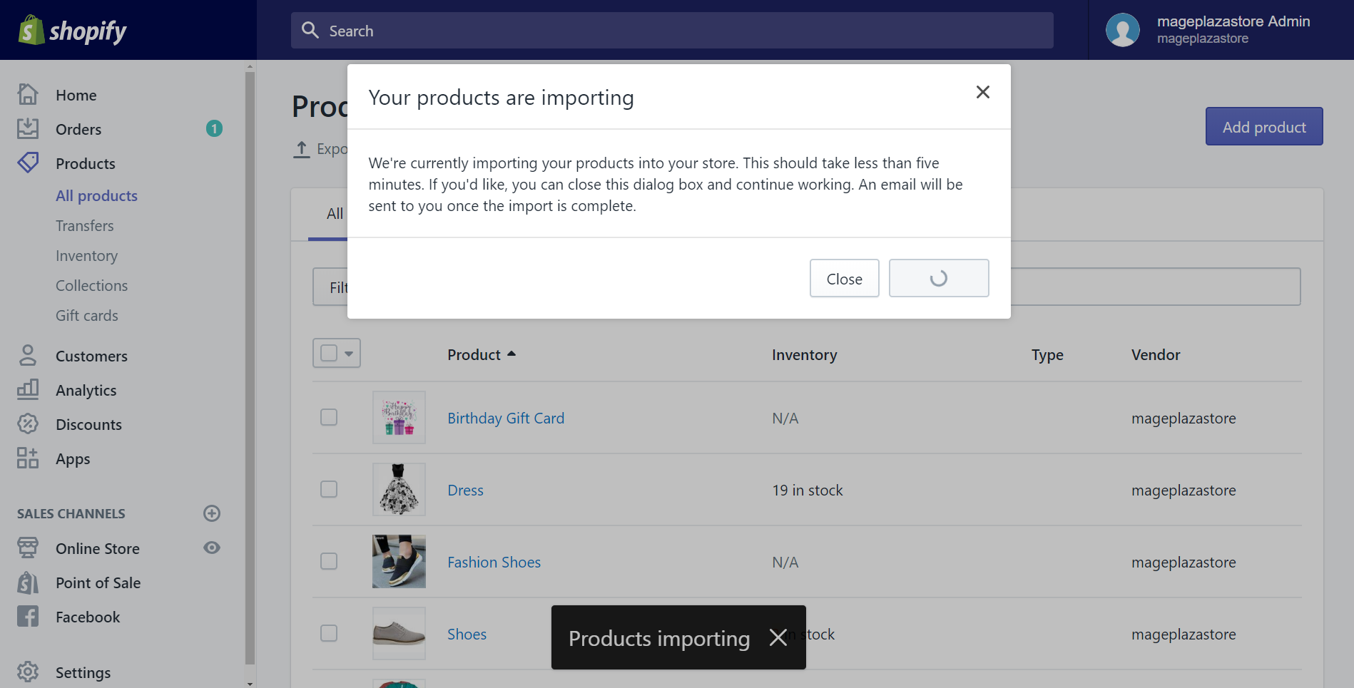 how to import products after making changes to your csv file