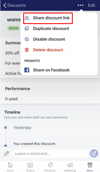 how to promote a discount using a shareable link