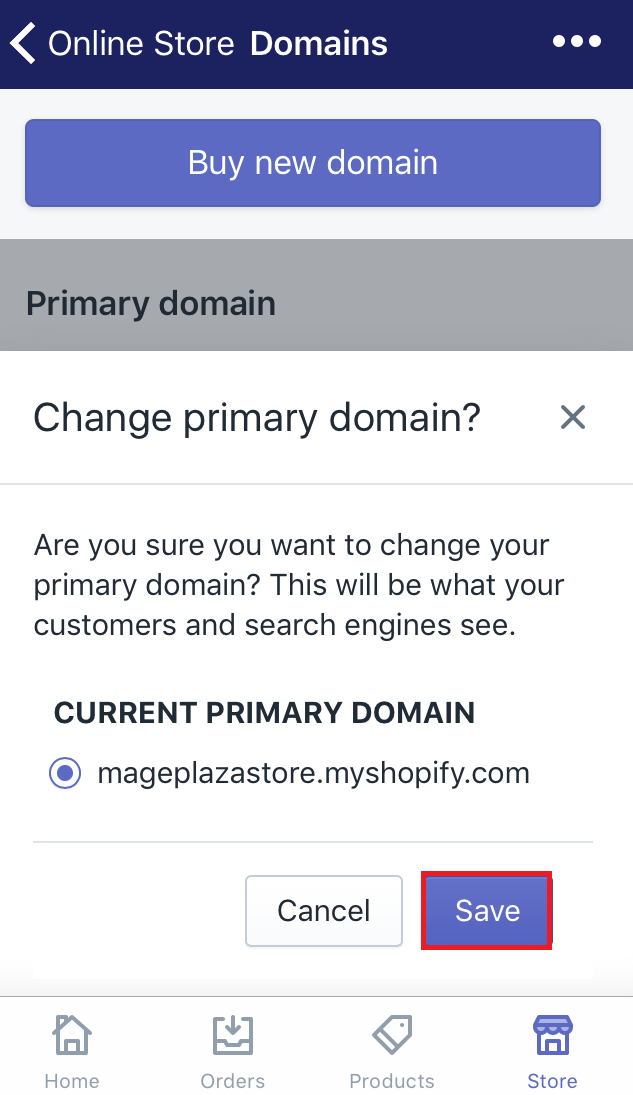 how to set your primary domain on iphone
