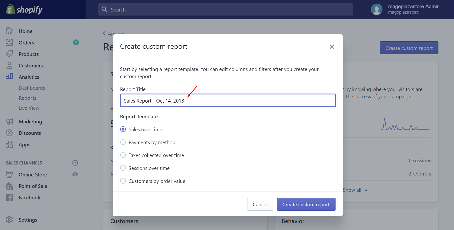 how to custom reports
