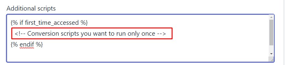 How to run scripts only on the first visit