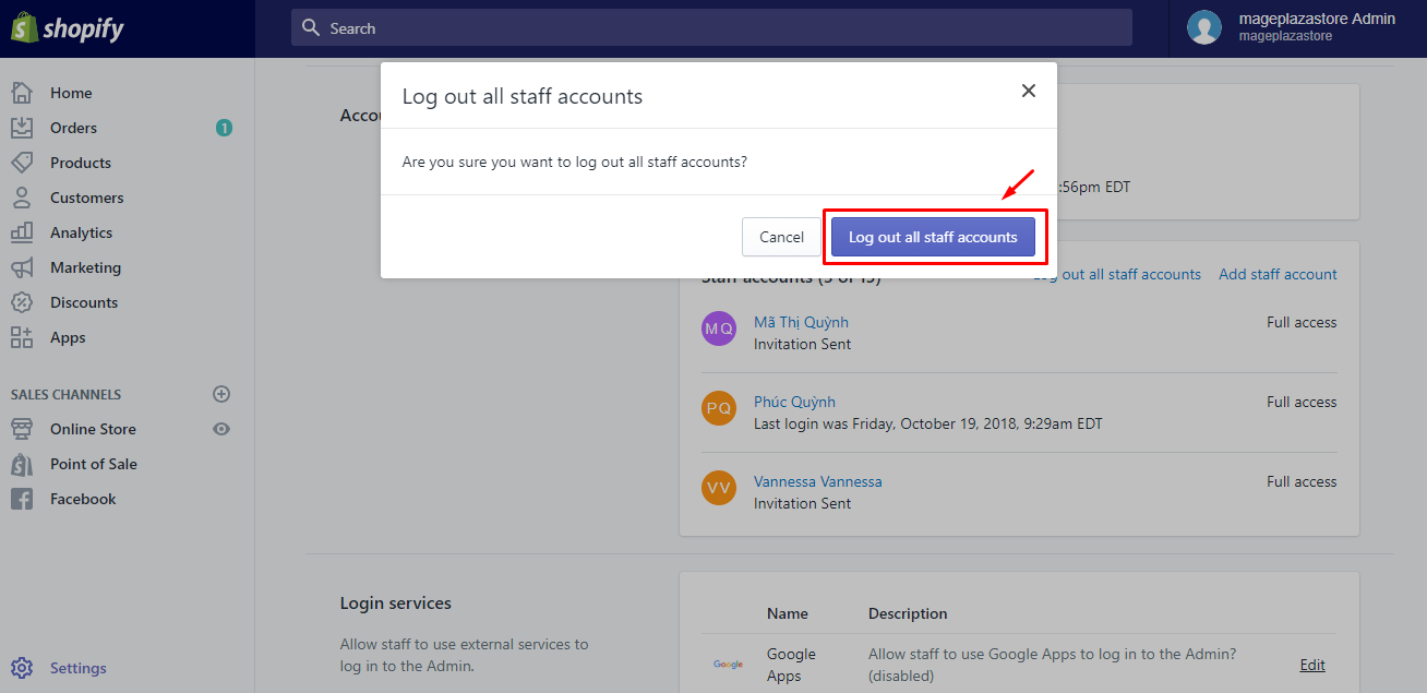How to force a staff account logout on Desktop 3