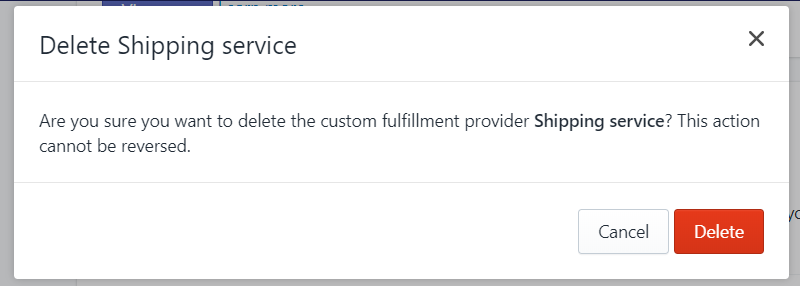 To deactivate a fulfillment service on Desktop 5