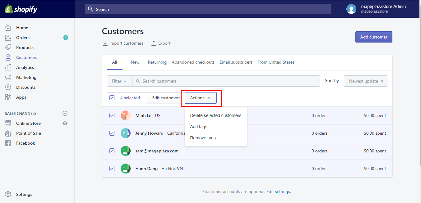 how to edit customer profiles in bulk