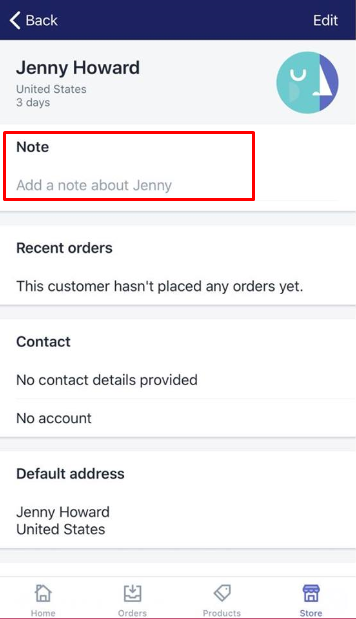 how to edit a customer note