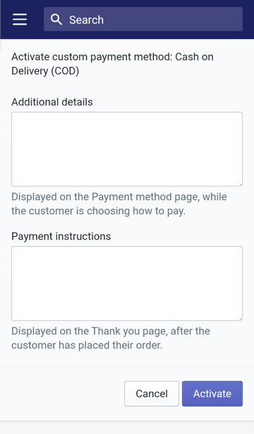 use a suggested manual payment method