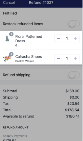 To refund an entire order