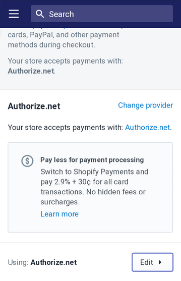 use authorize.net in test mode