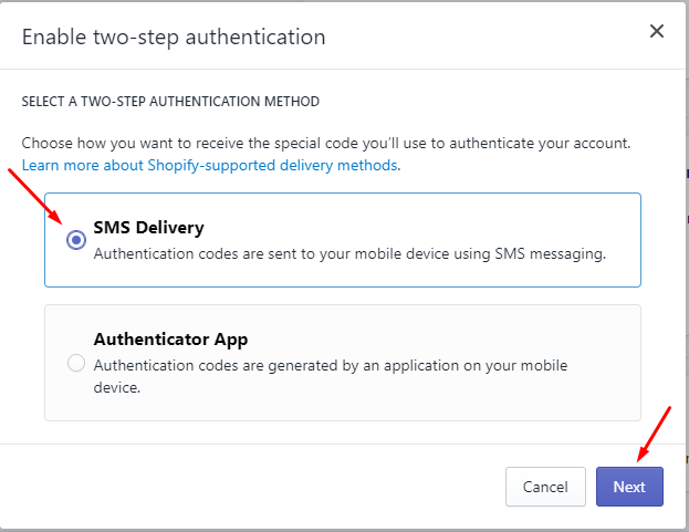 How to enable two-step authentication for a staff account on desktop 5