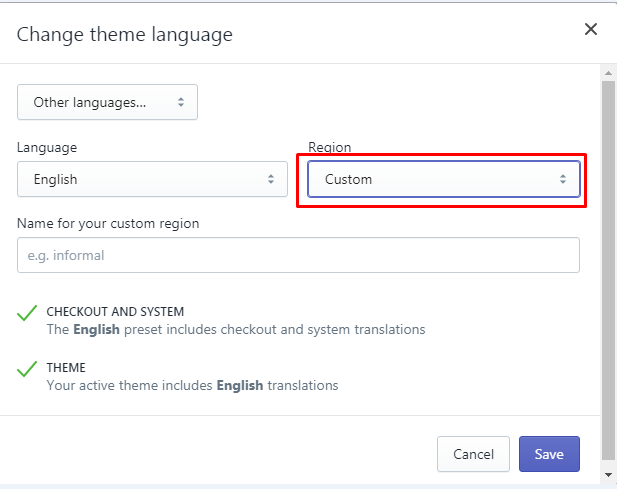 how to create a translation for your theme