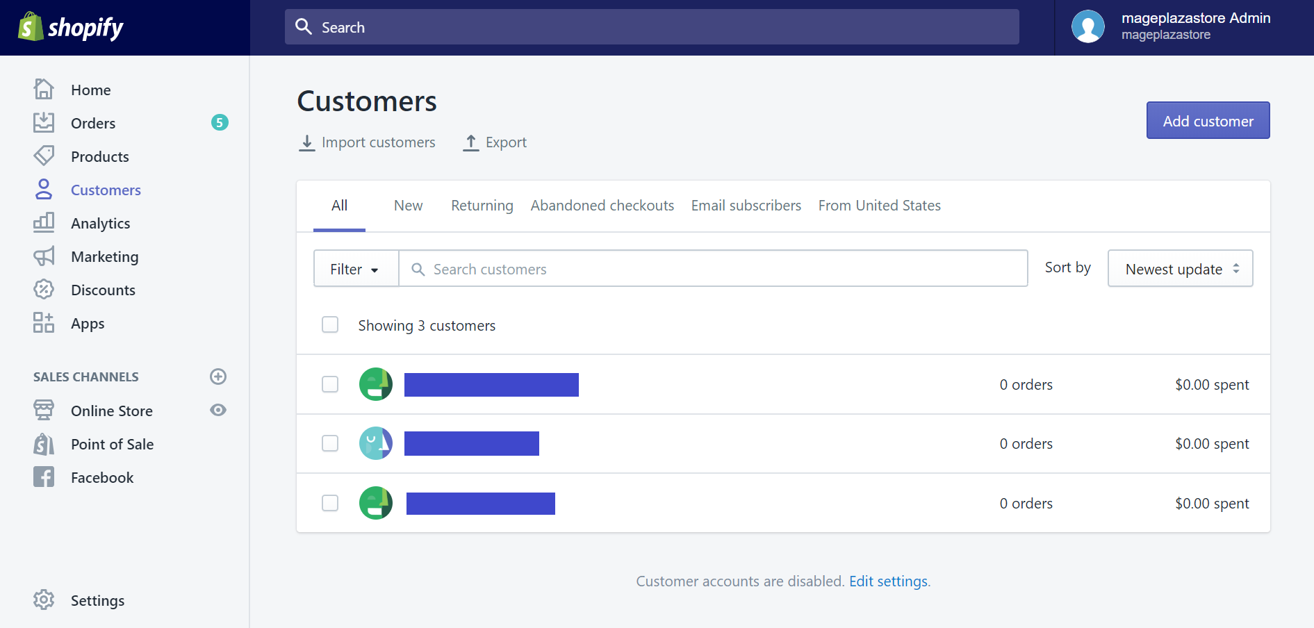 How to import existing customers using the customer CSV