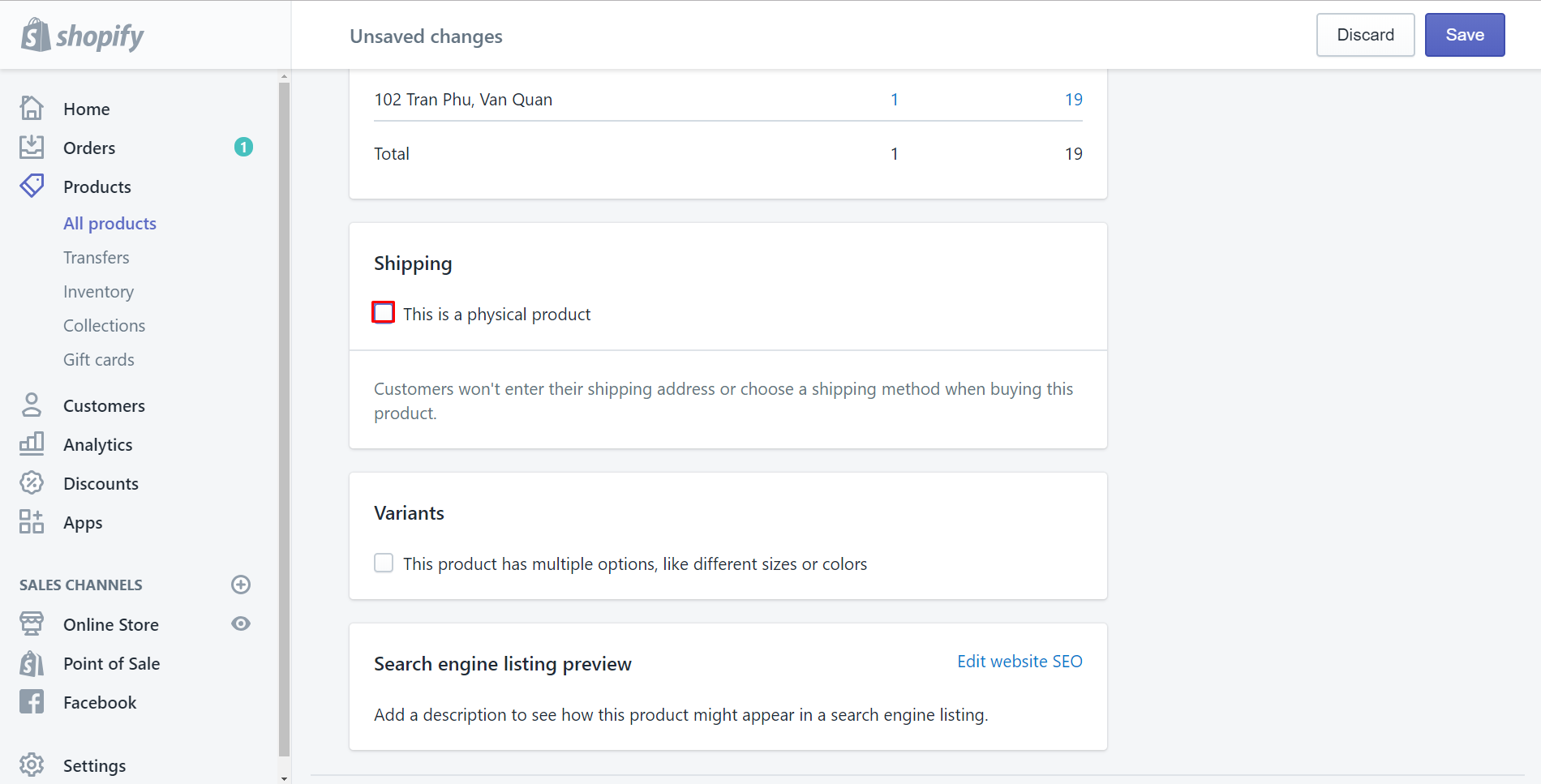 how to disable shipping for a digital product