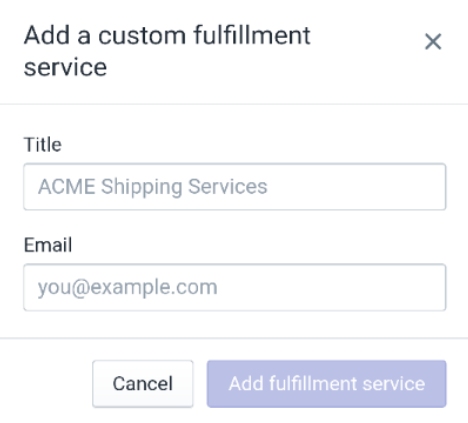 To activate a custom fulfillment service on Android 5