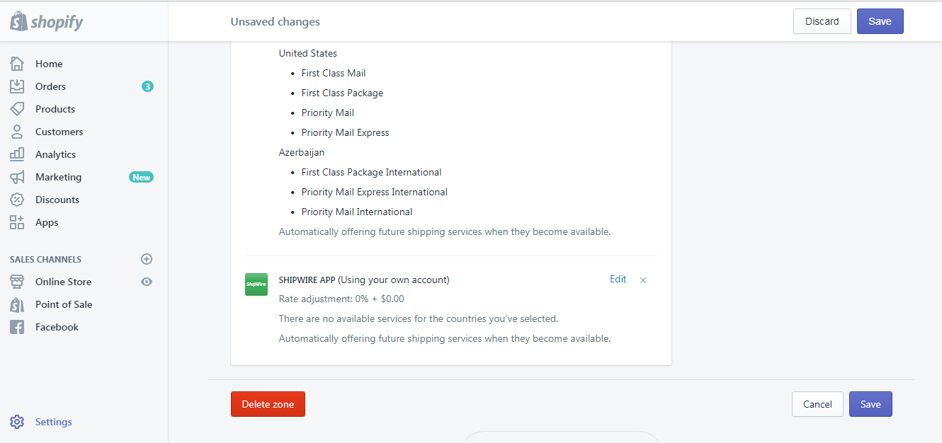 how to create a new shipping zone on Shopify on Desktop 7