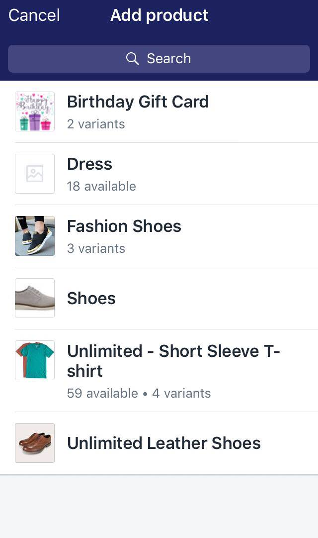 To add products to a draft order on iPhone 3