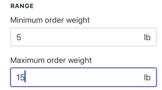 how to offer free shipping over a set weight