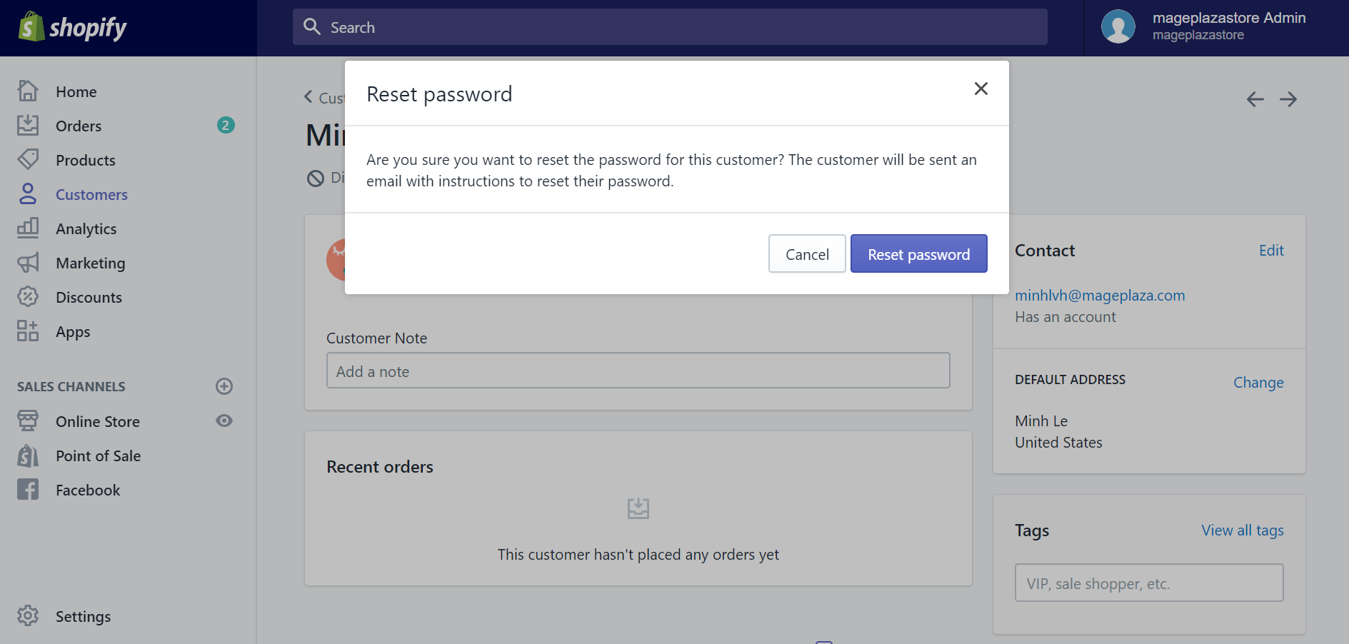 How to reset your customers' passwords