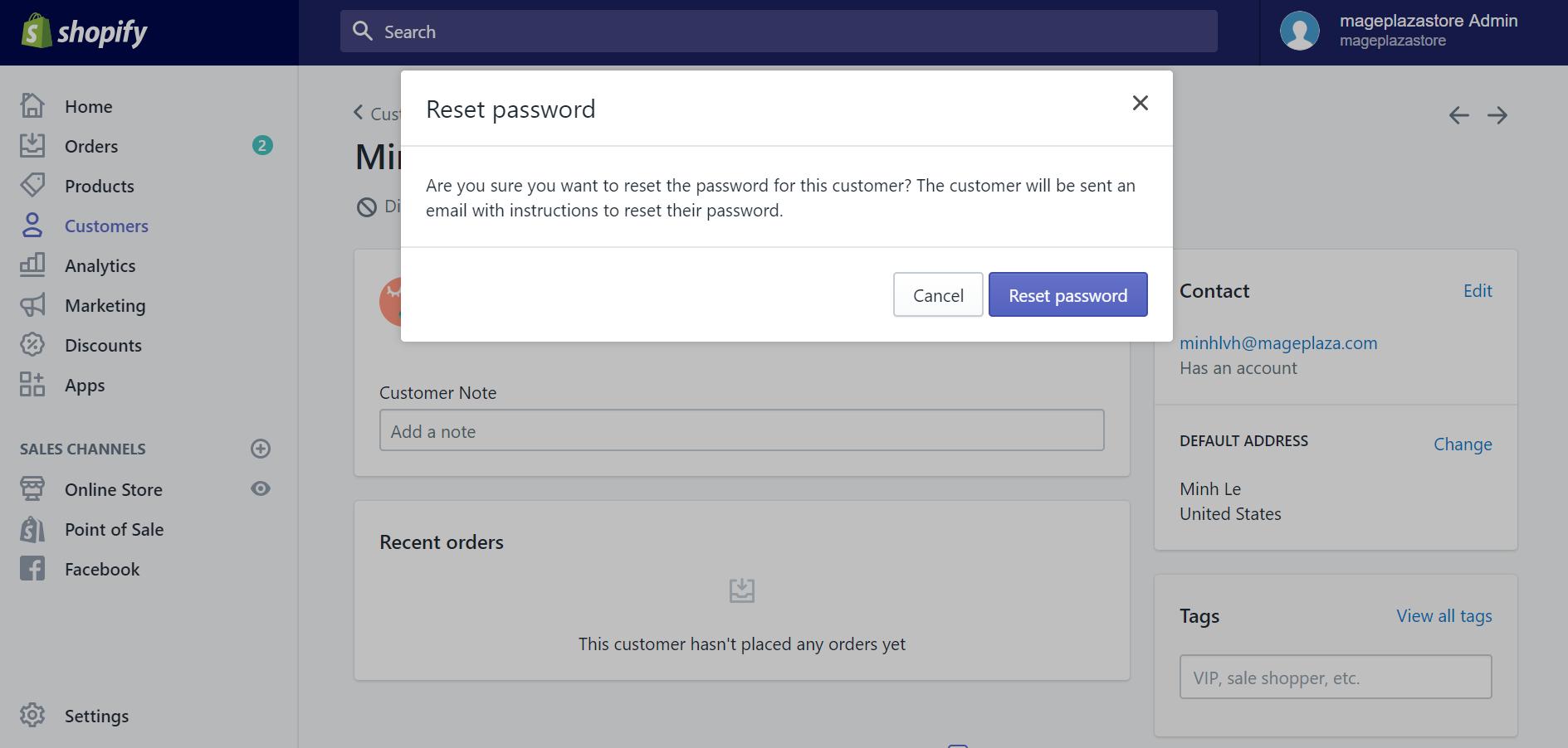How to reset your customers' passwords