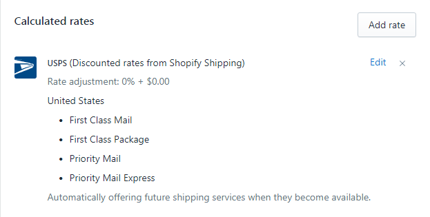 How to add a Carrier Calculated Shipping rate on Shopify on iPhone 4