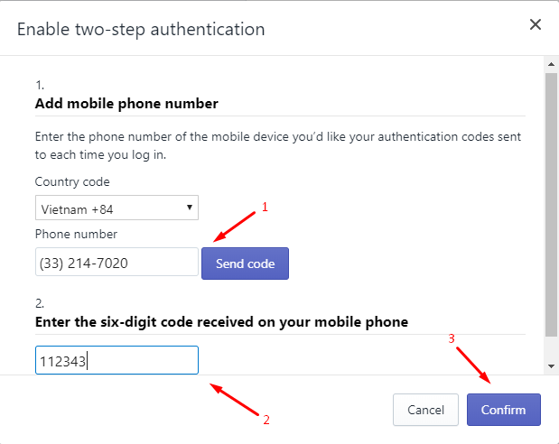 How to enable two-step authentication for a staff account on desktop 6