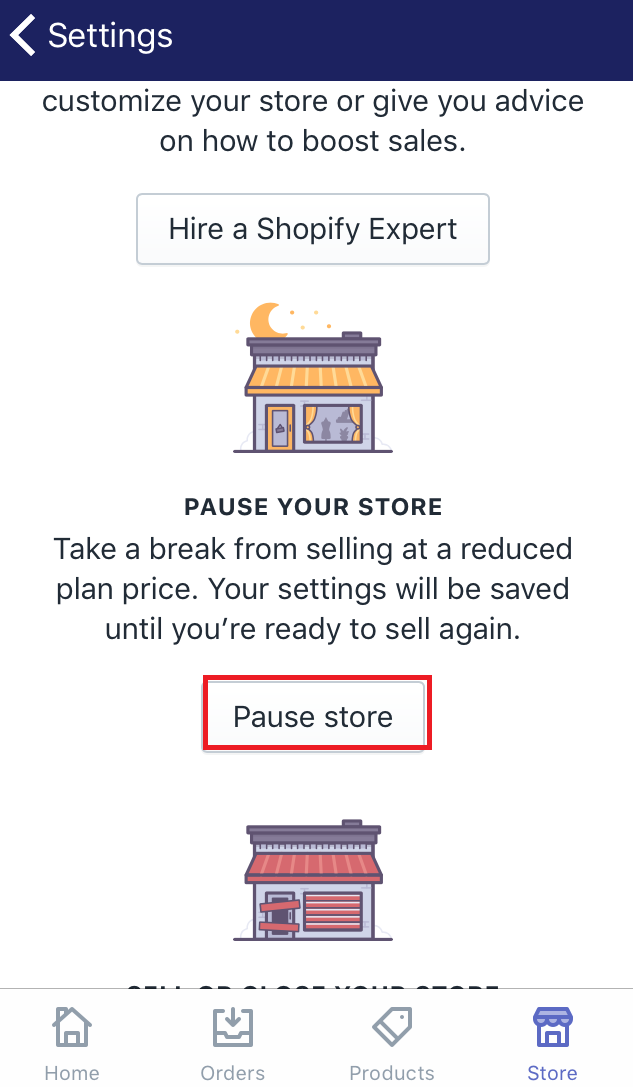 How to pause your Shopify store