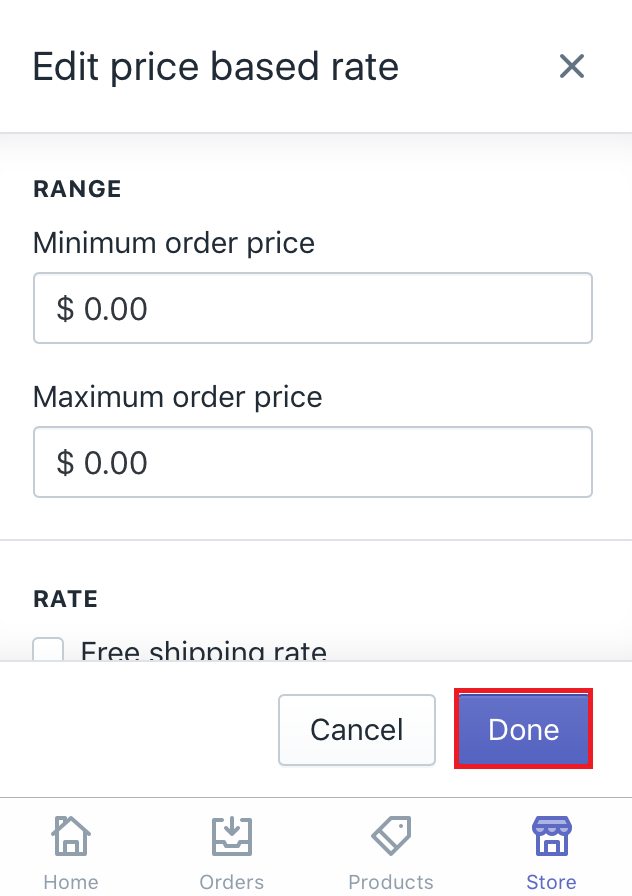 how to suspend a shipping rate