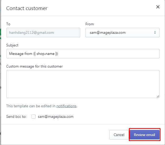 how to email customers