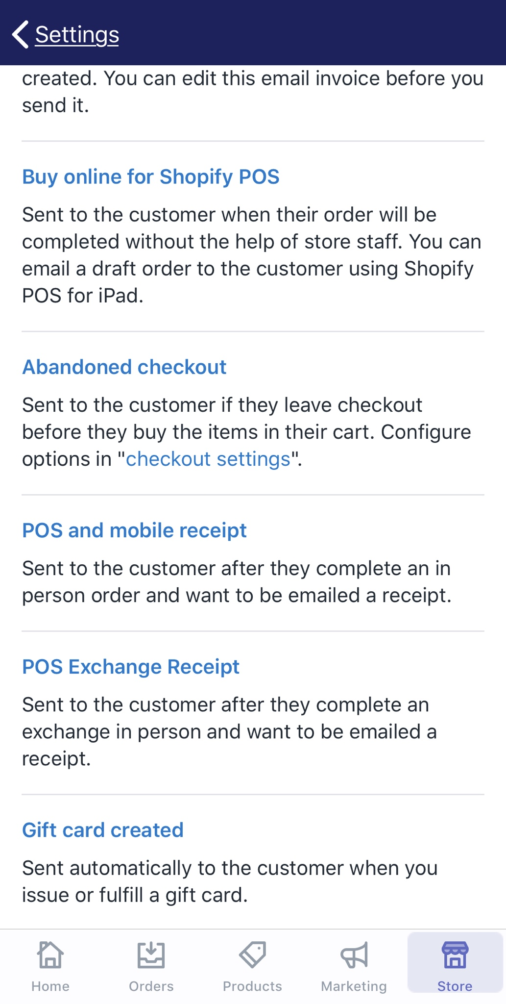 How to edit the abandoned checkout recovery notification