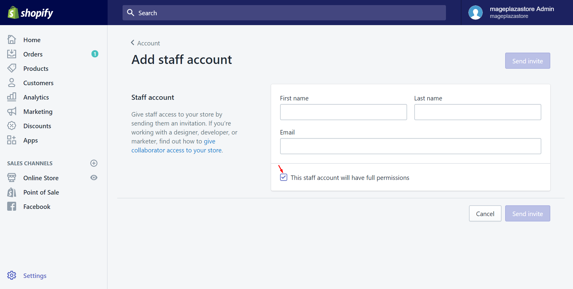How to add a new staff account