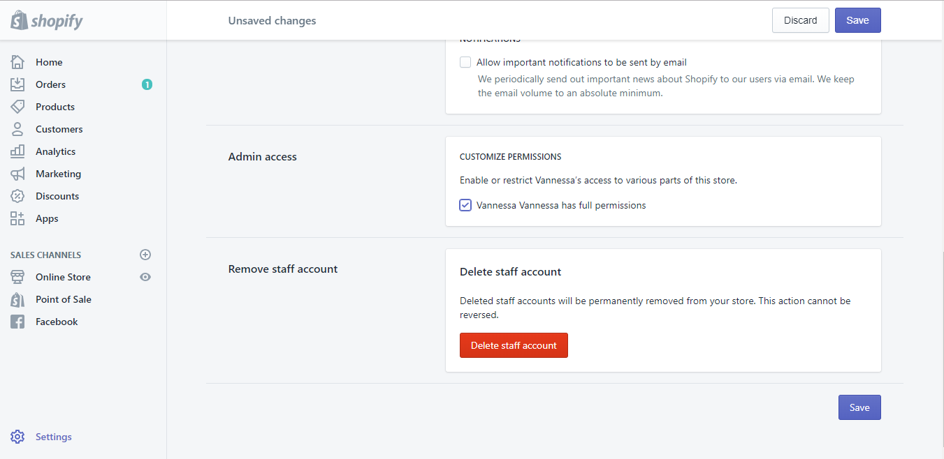 How to set account permissions2